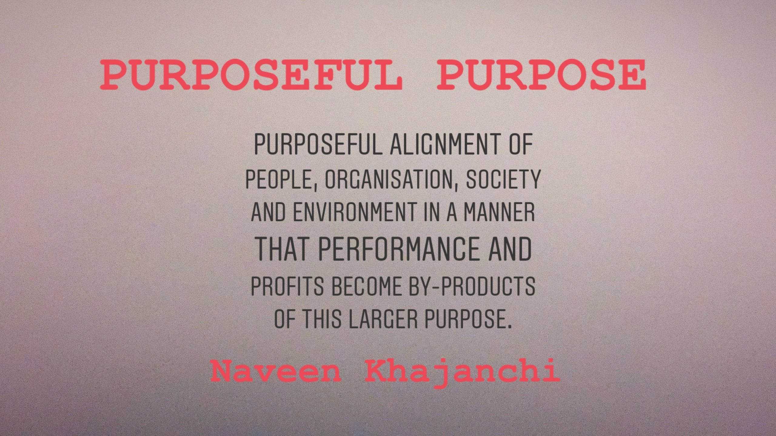 Purposeful Purposelessness